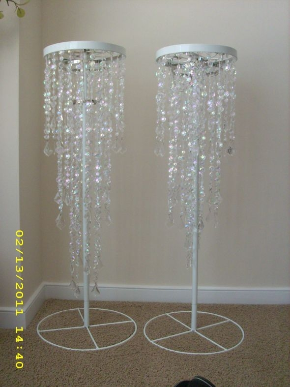 119 Best Bling Theme Images On Pinterest In Faux Crystal Chandelier Wedding Bead Strands (Image 1 of 25)