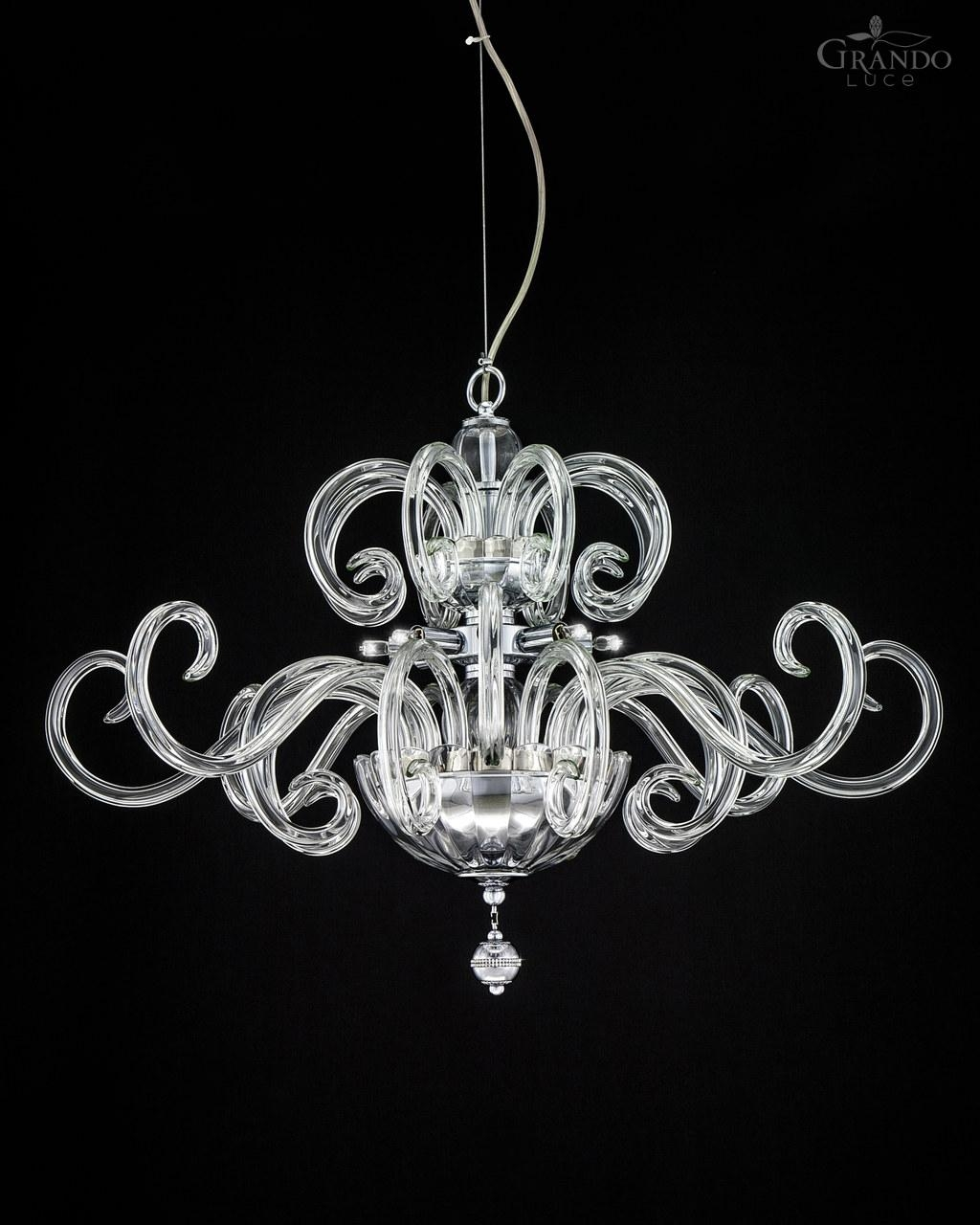119sm Chrome Modern Crystal Chandelier With Swarovski Elements In Chrome And Crystal Chandeliers (Image 2 of 25)