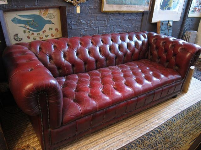 12 Best Chesterfield Sofas Images On Pinterest | Oxblood Pertaining To Red  Leather Chesterfield Sofas (