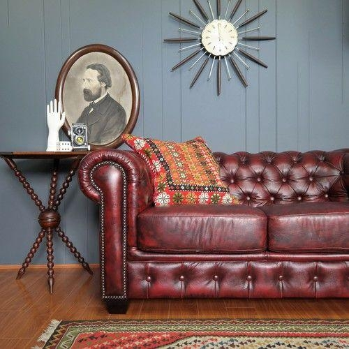12 Best Chesterfield Sofas Images On Pinterest | Oxblood Regarding Red Leather Chesterfield Sofas (View 16 of 20)