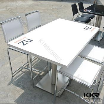120X60 Cm 4 Kursi Murni Putih Acrylic Batu Meja Makan Dengan Logo Within Dining Tables 120X (View 18 of 20)