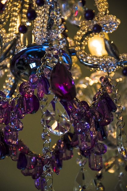 123 Best Loving These Colored Crystal Chandeliers Images On Regarding Purple Crystal Chandeliers (Image 2 of 25)