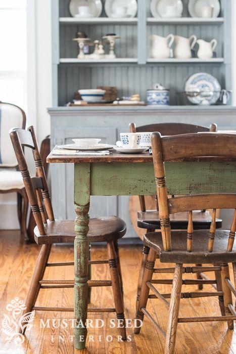 125 Best Farmhouse Dining Images On Pinterest | Farmhouse Kitchens Regarding Green Dining Tables (Image 1 of 20)