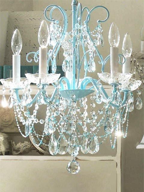 127 Best Romantic Bedrooms Images On Pinterest Inside Turquoise Bedroom Chandeliers (View 11 of 25)