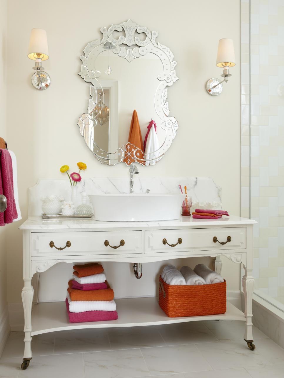 13 Dreamy Bathroom Lighting Ideas Hgtv Pertaining To Bathroom Lighting Chandeliers (View 14 of 25)