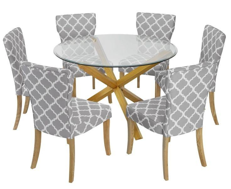 131 Best Dining Table And Chairs Images On Pinterest | Dining Sets Pertaining To Round Glass And Oak Dining Tables (View 11 of 20)
