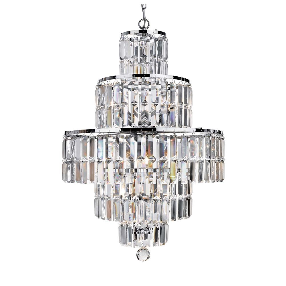 1394117036 45849000 Within Chrome And Glass Chandeliers (Image 1 of 25)