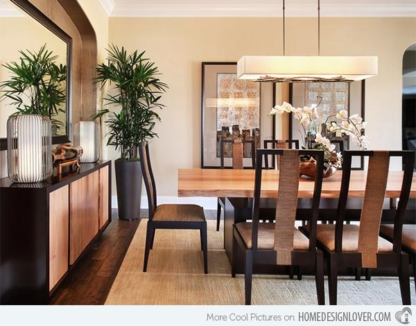 15 Asian Inspired Dining Room Ideas | Home Design Lover Within Asian Dining Tables (Image 2 of 20)