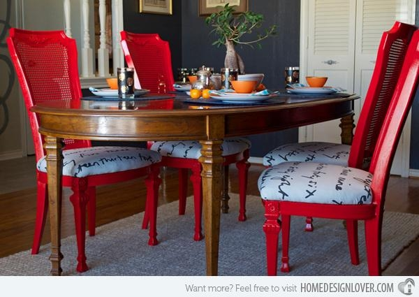 15 Dining Room Designs With A Red Touch | Home Design Lover Throughout Red Dining Tables And Chairs (Image 2 of 20)