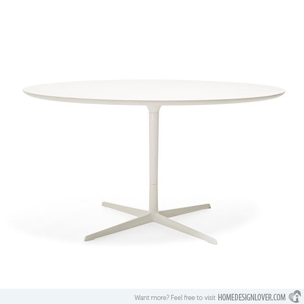15 Lovely Circular White Dining Tables | Home Design Lover With Small Round White Dining Tables (Image 1 of 20)