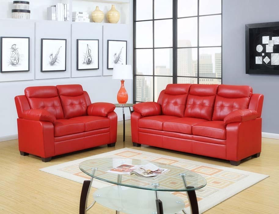 15+ Reasons Why Red Living Room Furniture Are Perfect! Throughout Black And Red Sofa Sets (Image 2 of 20)