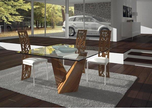 15 Shimmering Square Glass Dining Room Tables | Home Design Lover Within Square Dining Tables (Image 2 of 20)
