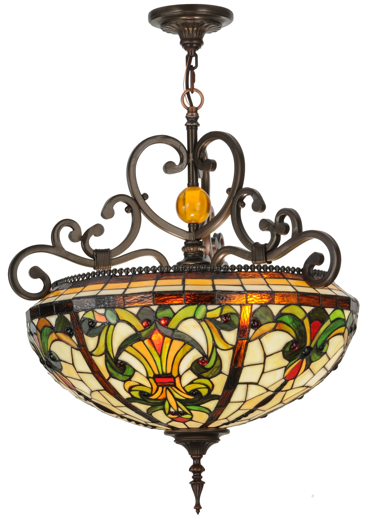 151873 Baroque Inverted Pendant In Inverted Pendant Chandeliers (Image 1 of 25)