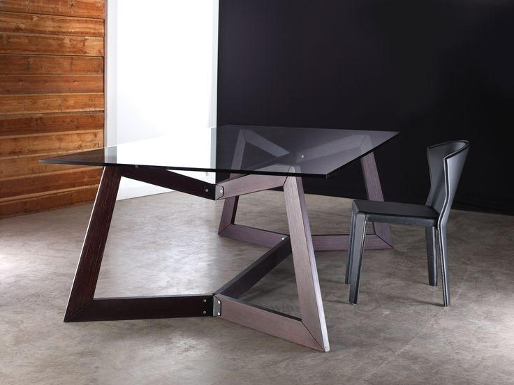 152 Best Nuevo – Dining Tables And Chairs Images On Pinterest Throughout Contemporary Base Dining Tables (Image 1 of 20)