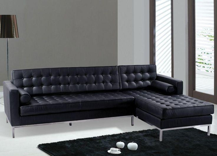 155 Best Furniture Images On Pinterest | Orange Leather Sofas Inside Black Modern Couches (Image 1 of 20)
