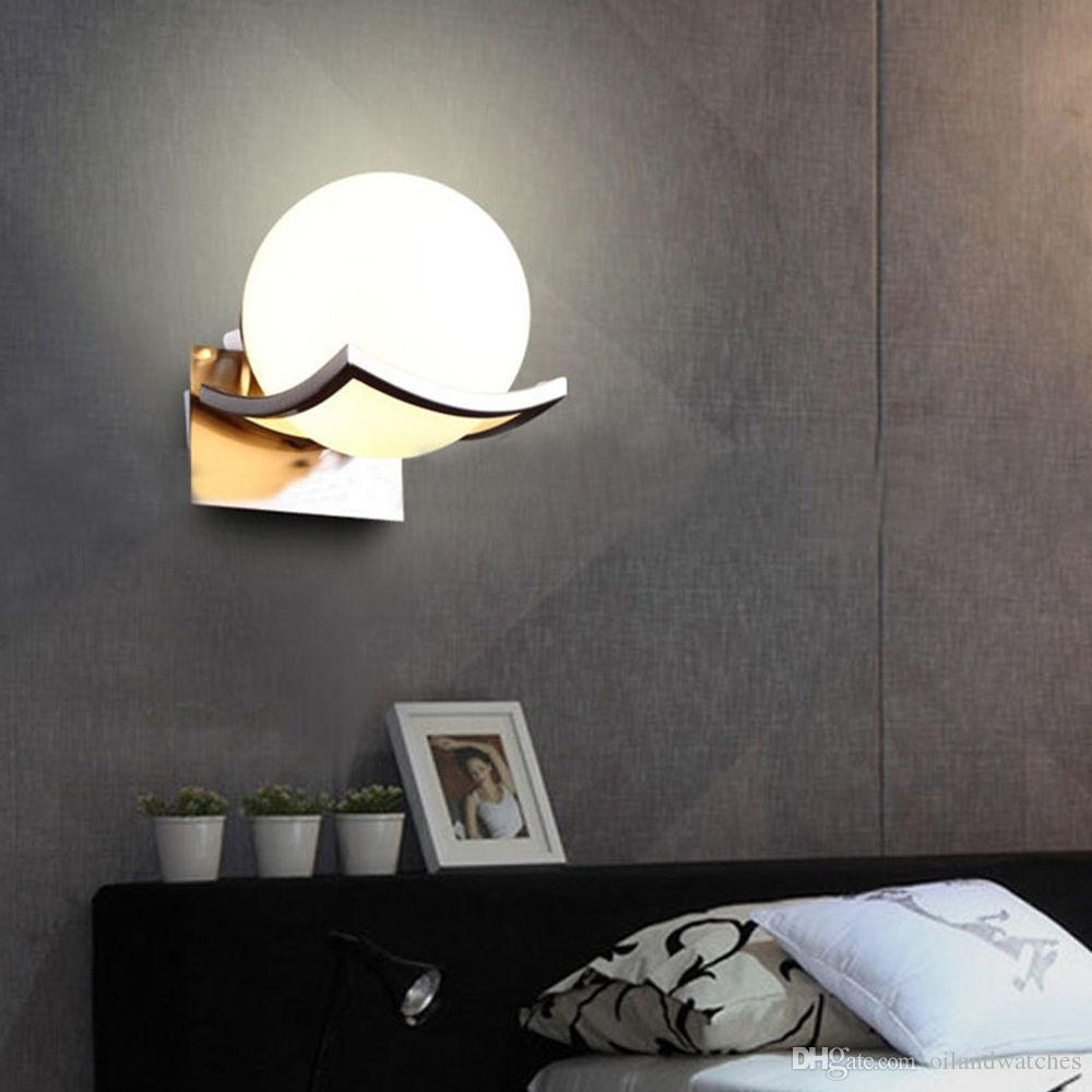 15cm Ball Wall Light Fixture Lamp Scone Glass Lampshade Bedroom Throughout Bathroom Chandelier Wall Lights (Image 1 of 25)