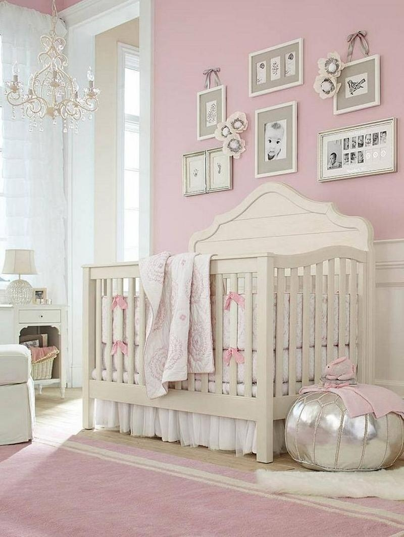 16 Adorable Ba Girls Nursery Ideas Rilane With Regard To Cheap Chandeliers For Baby Girl Room (Image 1 of 25)
