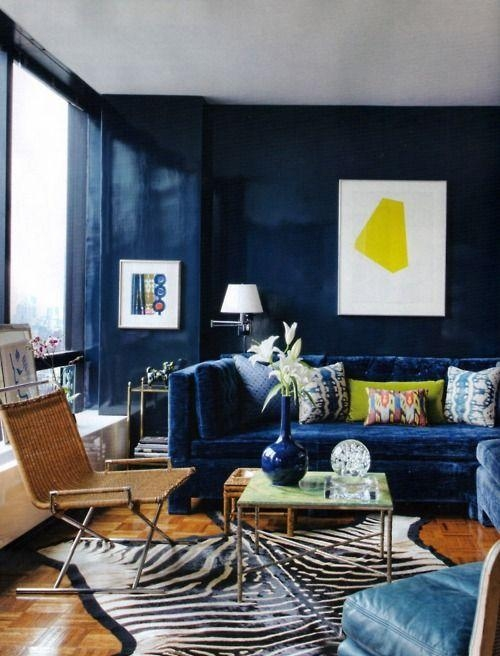 16 Best Decoration Images On Pinterest | Architecture, Live And With Regard To Midnight Blue Sofas (Image 1 of 20)