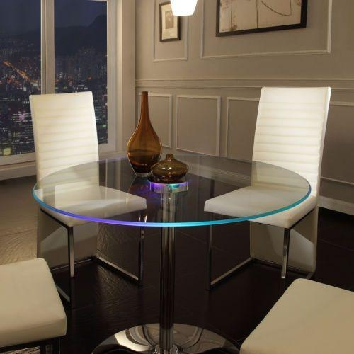 16 Best Glass Dining Tables Under $700 Images On Pinterest Throughout Dining Tables With Led Lights (Image 2 of 20)