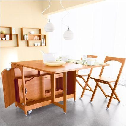 164 Best Folding Dining Room Tables Images On Pinterest | Dining Regarding Folding Dining Table And Chairs Sets (View 8 of 20)