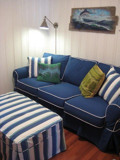 165 Best Furniture With Jeans! Images On Pinterest | Denim For Blue Slipcover Sofas (Image 1 of 20)