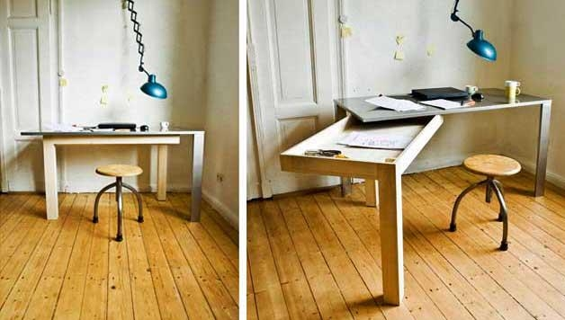 17 Furniture For Small Spaces – Folding Dining Tables & Chairs In Wood Folding Dining Tables (Image 1 of 20)