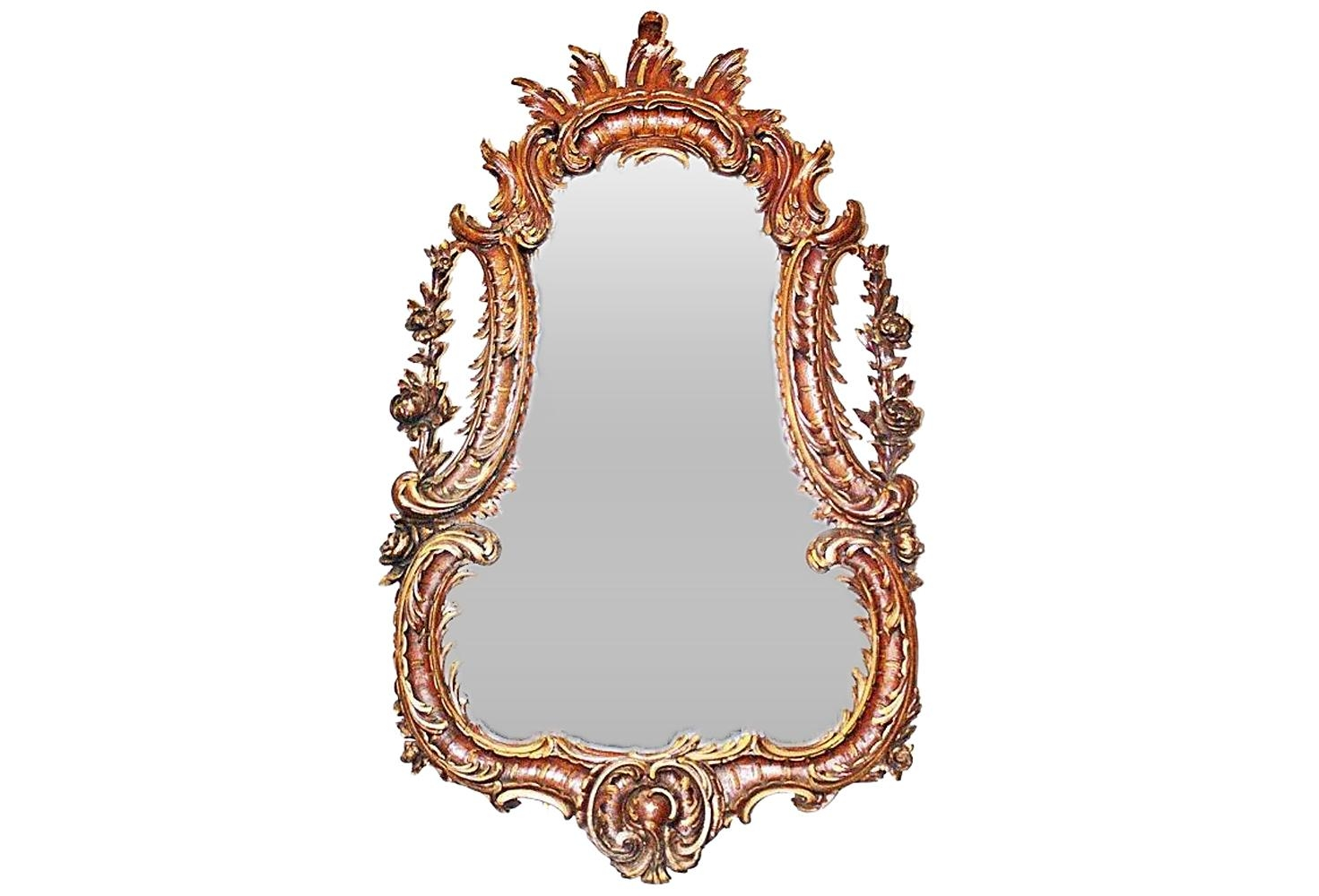 1850's Carved French Rococo Mirror | Omero Home Regarding French Rococo Mirror (Image 5 of 20)