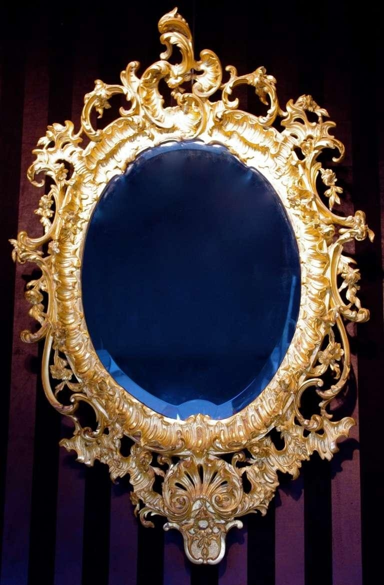 1880 Rococo Mirror In Stucco For Sale At 1Stdibs For Gold Rococo Mirror (Image 5 of 20)