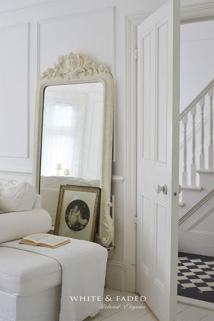 1898 Best French Shabby Chic, Vintage And Country Style Images On Throughout White French Mirrors (Image 9 of 20)