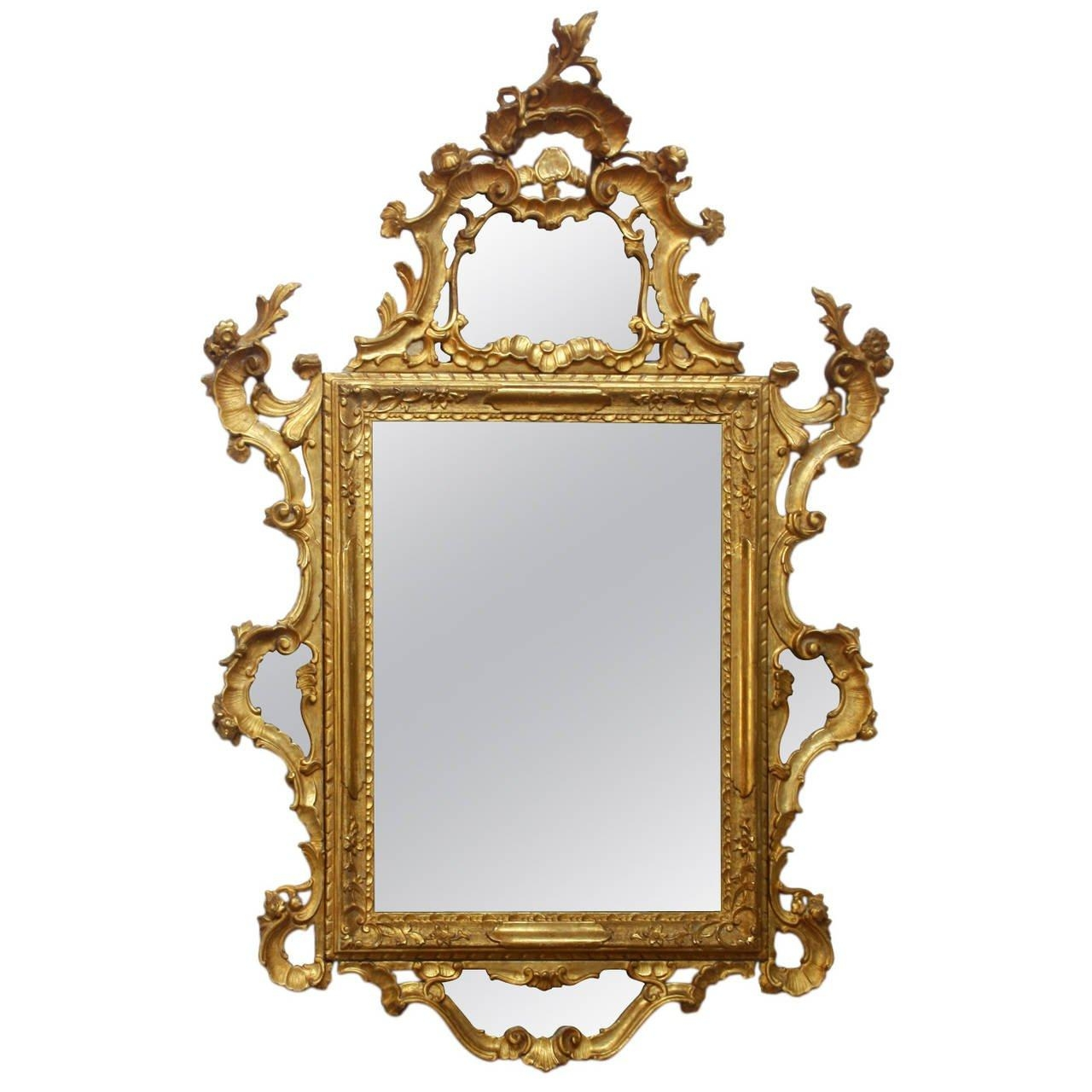 18Th Century Italian Rococo Mirror At 1Stdibs Inside Roccoco Mirror (Image 2 of 20)