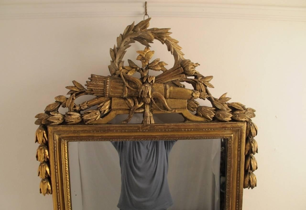 18Th Century Louis Xvi Gilt Framed Mirror For Sale At 1Stdibs Inside Gilt Edged Mirror (Image 2 of 20)