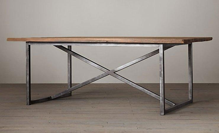 19 Modern Dining Room Tables – Metal & Wood | Cococozy For Railway Dining Tables (Image 1 of 20)