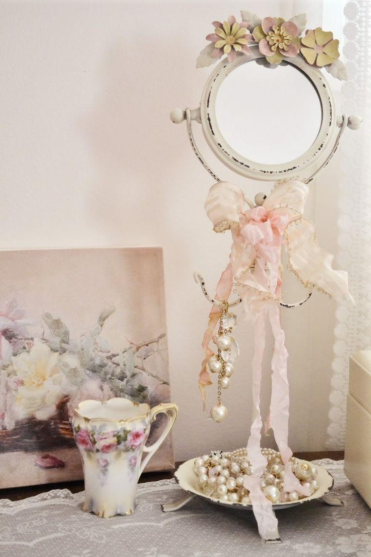 192 Best Shabby Chic ~ Signs & Mirrors & Frames Images On With Cream Shabby Chic Mirror (Image 1 of 20)