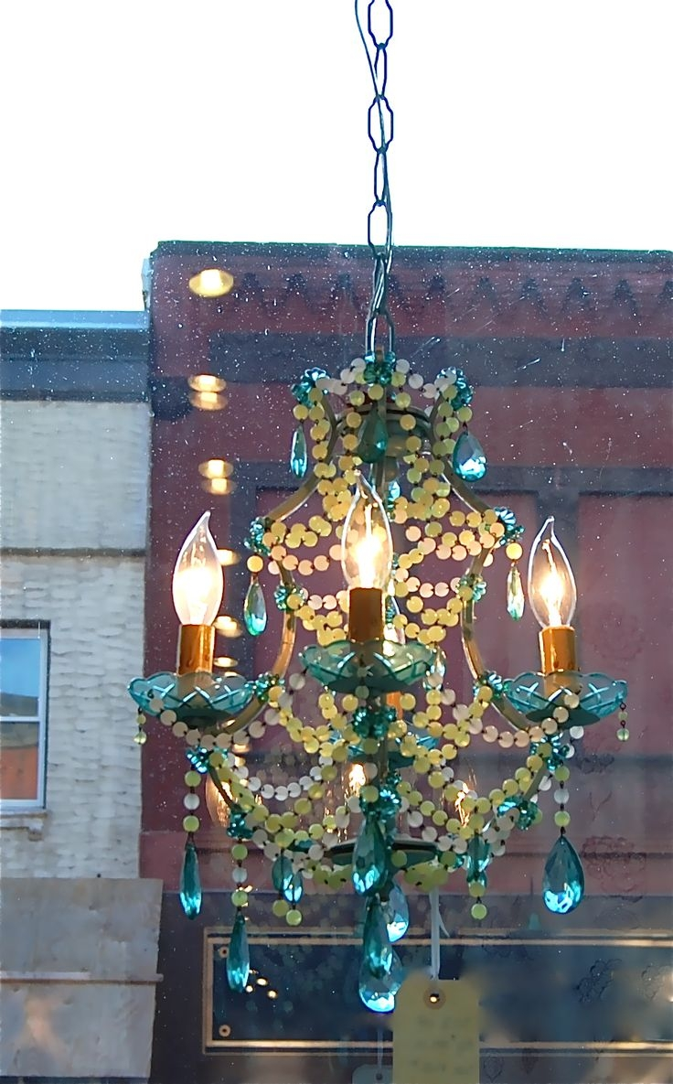 193 Best Lovely Lighting Images On Pinterest Within Small Turquoise Beaded Chandeliers (View 10 of 25)
