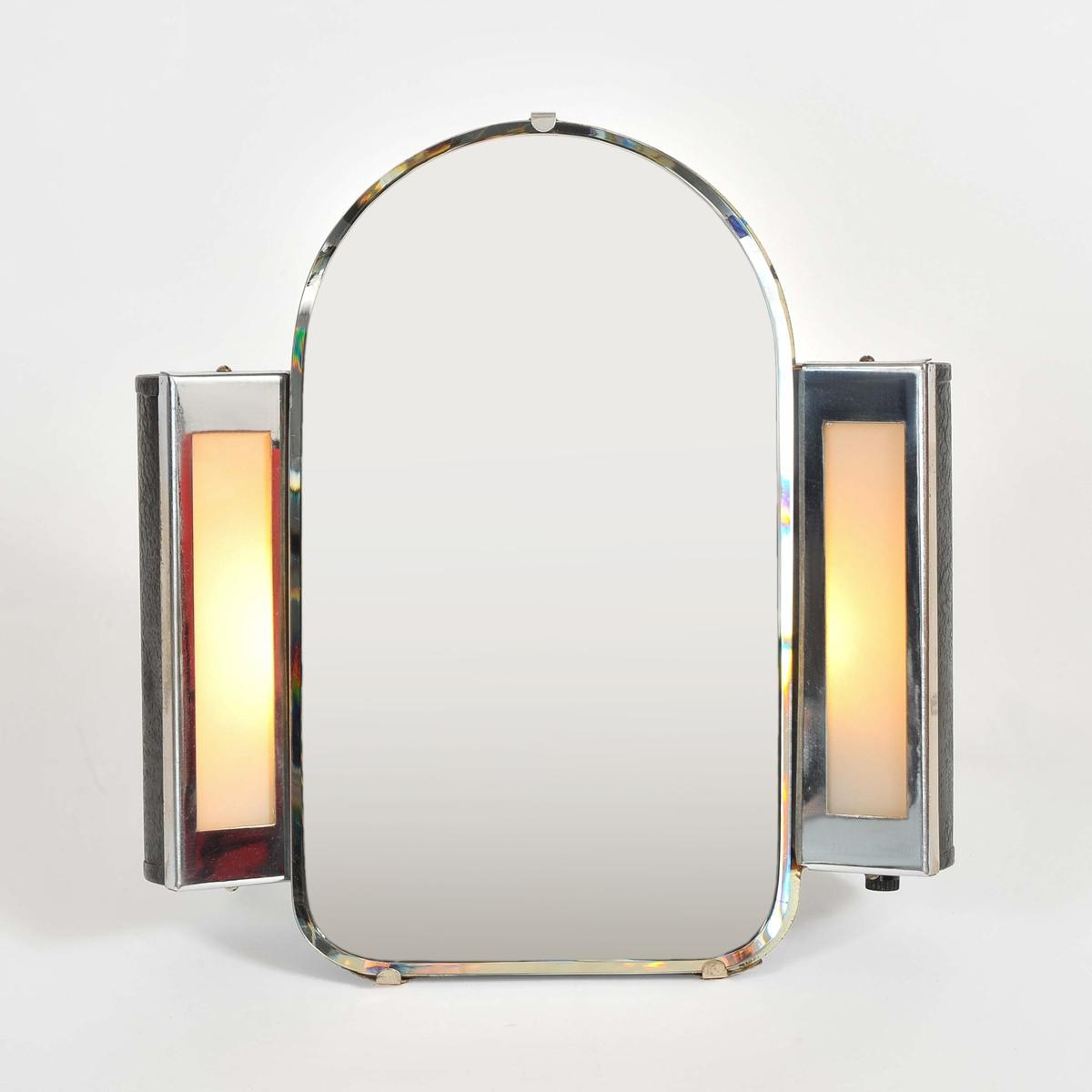 1930S Us Art Deco Illuminated Dressing Table Mirror | Valerie Wade With Illuminated Dressing Table Mirror (View 6 of 20)