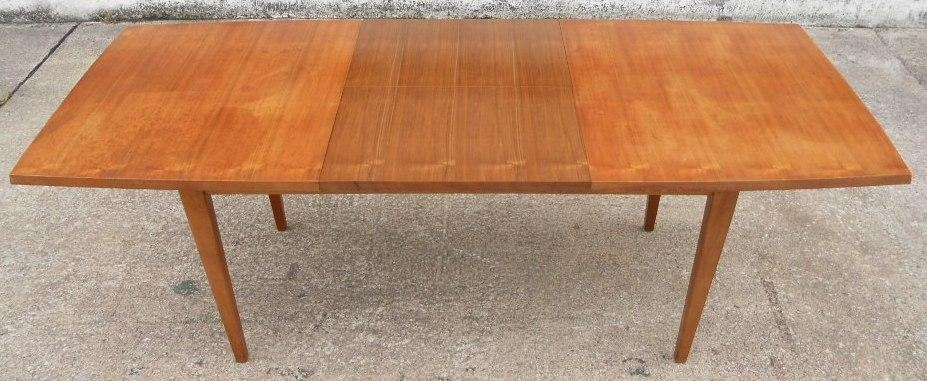 1960 S Retro Teak Wood Extending Dining Table To Seat Eight – Sold With Retro Extending Dining Tables (View 17 of 20)