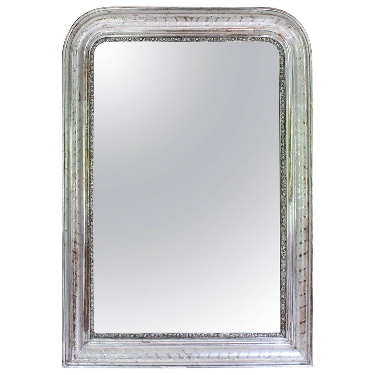 19Th Century France Louis Philippe Silver Gilt Mirror For Sale At Within Silver Gilt Mirror (Image 3 of 20)
