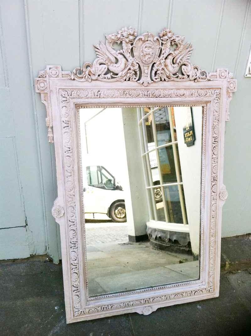 19Th Century French Painted Dragon Crest Wall Mirror (Image 1 of 20)
