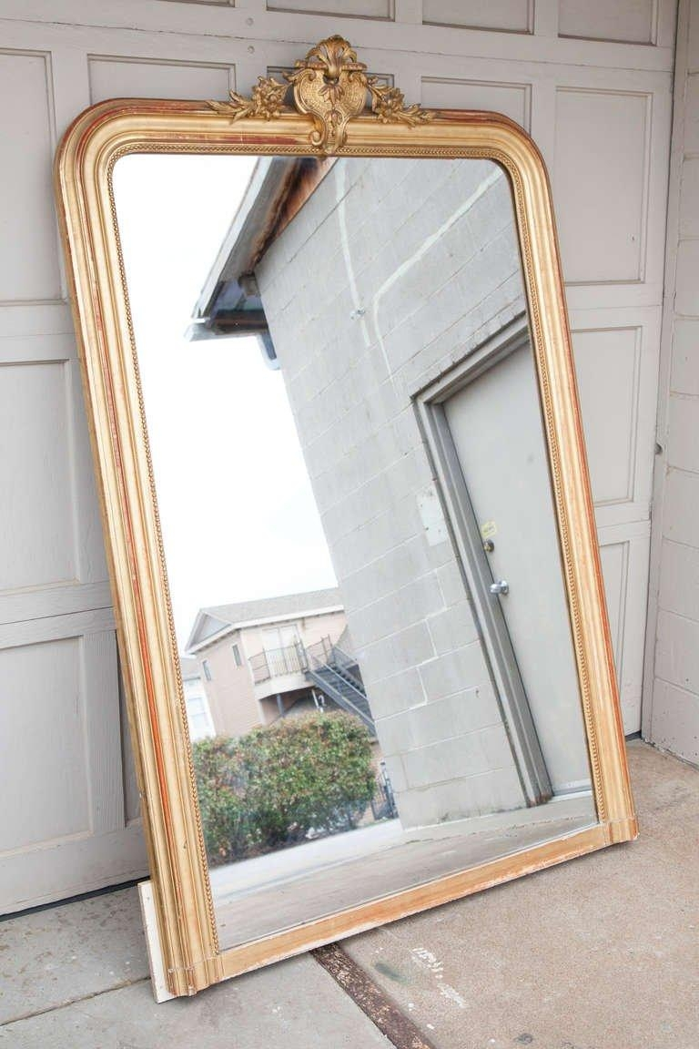 19Th Century Regency Mantle Or Full Length Gilt Wood Mirror At 1Stdibs Inside Mantle Mirror (Image 1 of 20)