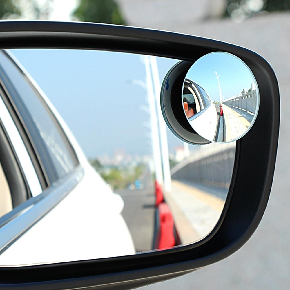 1Pair Wide Angle Side Round Convex Mirror Rearview Mirror Car Regarding Small Round Convex Mirror (Image 1 of 20)
