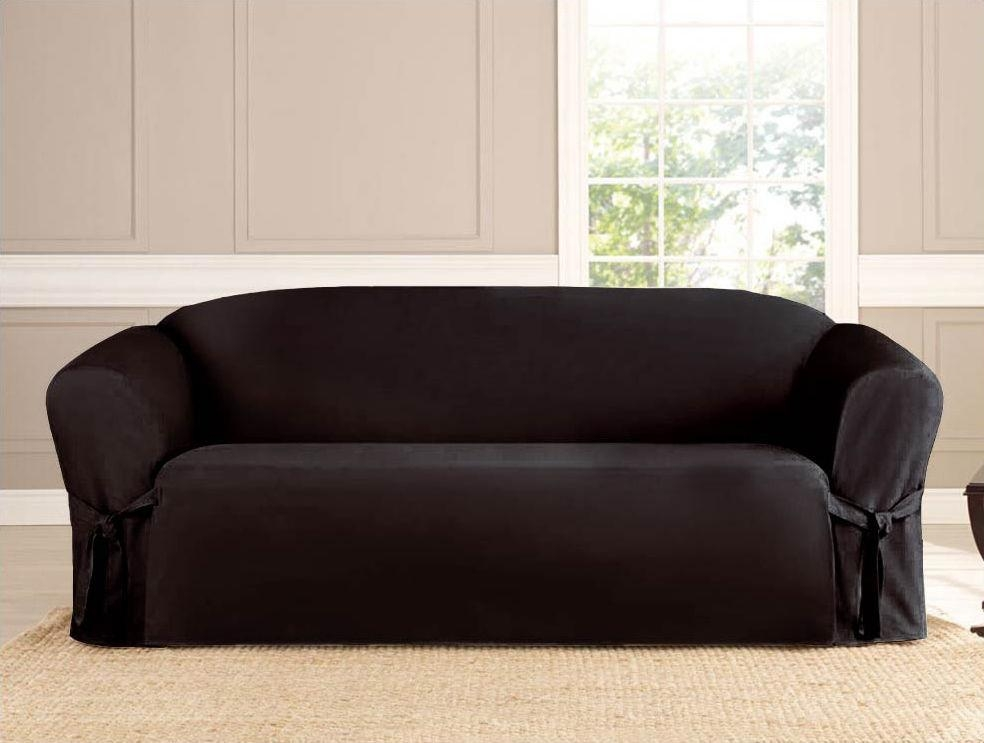 2 Piece Micro Suede Furniture Slipcover Sofa & Loveseat Couch Pertaining To 3 Piece Slipcover Sets (Image 1 of 20)