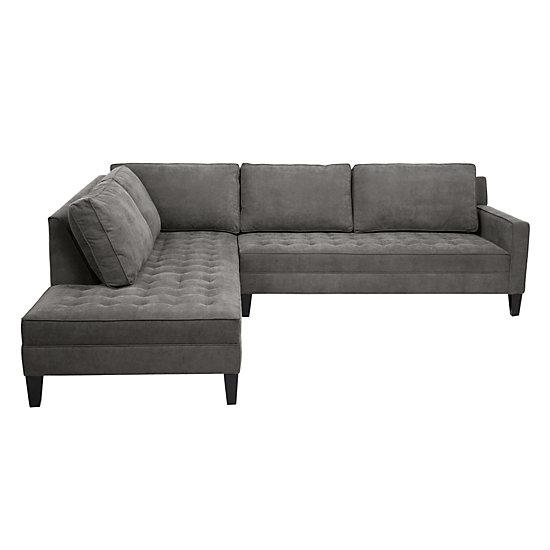 2 Piece Sectional Sofa | Vapor Collection | Z Gallerie Pertaining To 2 Piece Sectional Sofas (Image 2 of 20)