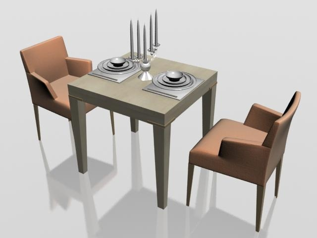 2 Seat Dining Table And Chairs | Ciov Inside Two Seat Dining Tables (Image 1 of 20)