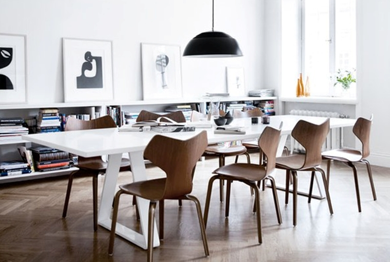 20 Astonishing Scandinavian Dining Room Ideas – Rilane Regarding Scandinavian Dining Tables And Chairs (View 17 of 20)