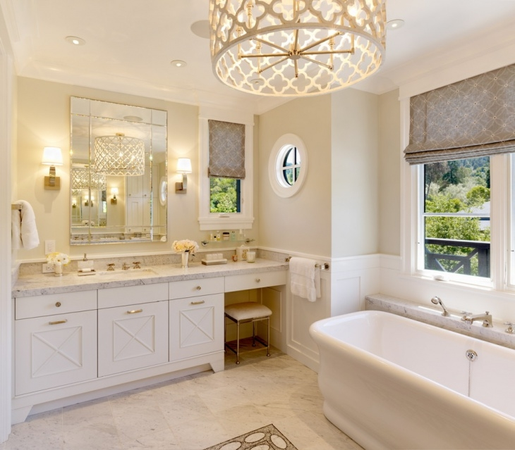 20 Bathroom Vanity Lighting Designs Ideas Design Trends Throughout Chandelier Bathroom Lighting Fixtures (Image 2 of 25)
