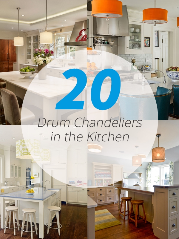 20 Cool Drum Chandeliers In The Kitchen Home Design Lover Regarding Turquoise Drum Chandeliers (Image 4 of 25)