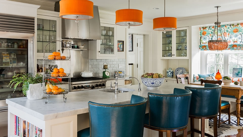 20 Cool Drum Chandeliers In The Kitchen Home Design Lover Within Turquoise Drum Chandeliers (Image 5 of 25)