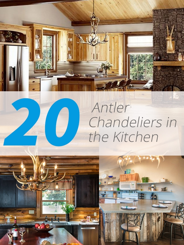 20 Fashionable Ways To Add Antler Chandeliers In The Kitchen For Turquoise Antler Chandeliers (Image 2 of 25)