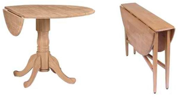 20 Pretty Wooden Oval Drop Leaf Dining Tables | Home Design Lover Pertaining To Oval Folding Dining Tables (Image 2 of 20)