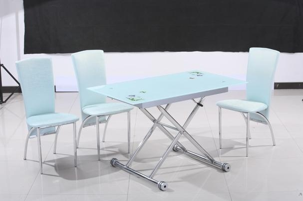 2014 Hebei Xinsong Modern Folding Glass Dining Room Table – Buy Inside Glass Folding Dining Tables (Image 1 of 20)